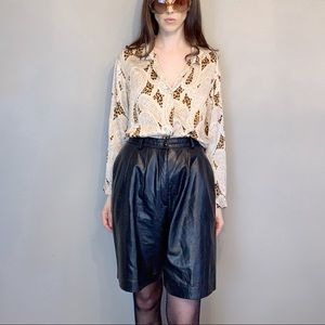 Vintage 90s high rise leather shorts